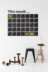 Ferm Living Calendar - Black Wall Stickers