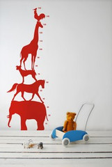 Ferm Living Animal Tower - Red Wall Stickers