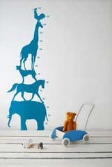 Ferm Living Animal Tower - Blue Wall Stickers
