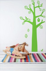 Ferm Living Bird Tree - Light Green Wall Stickers