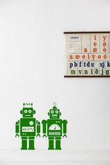 Ferm Living Robots - Green Wall Stickers