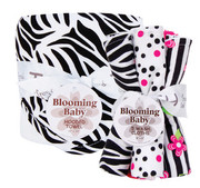 Trend Lab Black and White Zebra Hooded Towel and Wash Cloth Gift Set