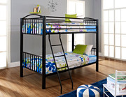 Powell Heavy Metal Black Twin Over Twin Bunk Bed