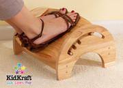 KidKraft Adjustable Stool for Nursing in Natural