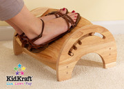 KidKraft Adjustable Stool for Nursing in Natural