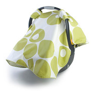 Oilo Modern Berries Car Seat Canopy - Spring Green