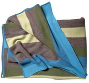 "Koko Company Alpaca 60"" x 60"" Multi Stripe Throw -Blue/Brown"