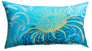 "Koko Company Water 15"" x 27"" Pillow - Blue and Mustard"