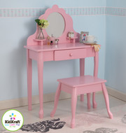 KidKraft Medium Diva Vanity and Stool in Pink