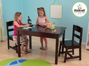 KidKraft Rectangle Table and Chair Set - Espresso