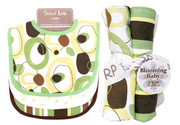 Trend Lab Giggles Bouquet Set - Bib and Burp Cloth