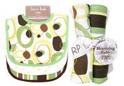 Trend Lab Giggles Bouquet Set - Bib and Burp Cloth