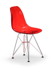 Zuo Modern Baby Spire Chair in Transparent Red