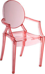 Zuo Modern Baby Anime Armchair in Transparent Red - Set of 2