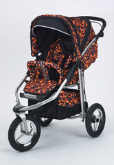 Baby Bling Fire Tip Red ATS Safety Stroller with all the Strollers Accessories