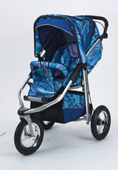 Baby Bling Painted Lady Blue ATS Safety Stroller with all the Strollers Accessories