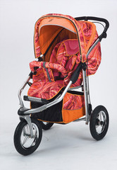 Baby Bling Painted Lady Pink ATS Safety Stroller with all the Strollers Accessories
