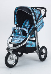 Baby Bling Papillion Blue ATS Safety Stroller with all the Strollers Accessories