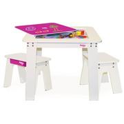 Pkolino Chalk Table and Benches - Fuchsia