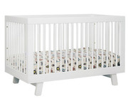 Babyletto Hudson 3-in-1 Convertible Crib with Toddler Rail in White