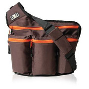 Diaper Dude Dude Bag Brown and Orange