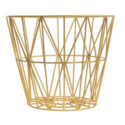 Ferm Living Wire Basket in Yellow - Medium