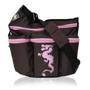 Diaper Dude Diva Bag Brown and Pink Dragon