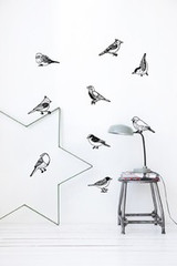 Ferm Living Drawing Birds Wall Stickers