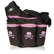 Diaper Dude Diva Bag Brown and Pink Skull