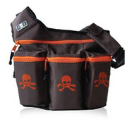 Diaper Dude Dude Bag Brown and Orange Skull