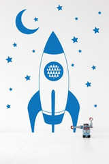 Ferm Living Rocket Wall Sticker - Blue