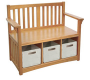 Guidecraft Mission Storage Bench with Bins
