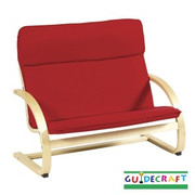 Guidecraft Kiddie Rocker Couch - Red
