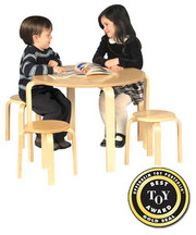 Guidecraft Nordic Table and Chairs Set - Natural