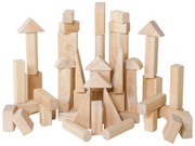 Guidecraft Classroom Unit Blocks - 45 Pieces