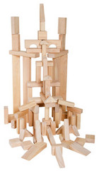 Guidecraft Classroom Unit Blocks - 86 Pieces