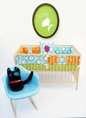 Aunt Bucky Sunshine Road Crib Bumper Set