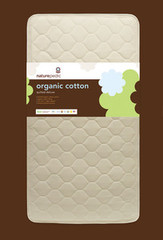 Naturepedic No-Compromise Organic Cotton Quilted Deluxe 252 Crib Mattress