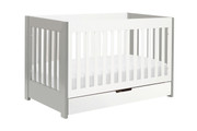 Babyletto Mercer 3 in 1 Convertible Crib in Grey-White