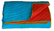 Koko Company Coverlet - Turquoise and Red