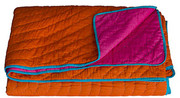 Koko Company Coverlet - Orange and Fuchsia