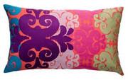 Koko Company Totem 15 x 27 Pillow - Pink/Mauve/Green