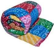 Koko Company Patchwork Bright Tie-Dye Throw