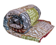 Koko Company Patchwork Earth Tie-Dye Throw
