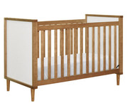Babyletto Skip 3-in-1 Convertible Crib with Toddler Rail in Chestnut - M7501CTW