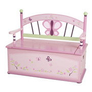 Levels of Discovery Sugar Plum Bench Seat with Storage
