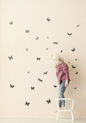 Ferm Living  Mini Butterflies - Black Wall Stickers
