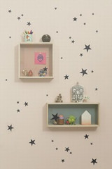 Ferm Living  Mini Stars  - Black Wall Stickers