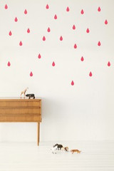 Ferm Living  Mini Drops - Neon Wall Stickers