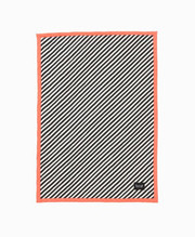 Ferm Living  Black Stripe Quilted Blanket - Neon
